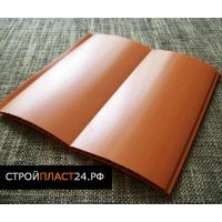 Вагонка блок хаус ПВХ, коричнево-оранжевая