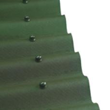 Кровельный материал Ондулин, зелeный