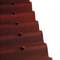Кровельный материал Ондулин, коричневый