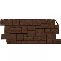 Цокольный сайдинг FineBer (Файнбер) – Серия Дикий камень, коричневый